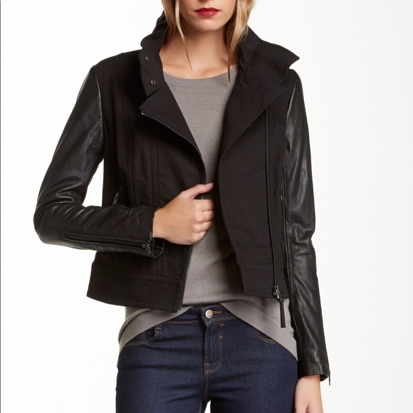 Mackage - small - leather sleeves jean jacket